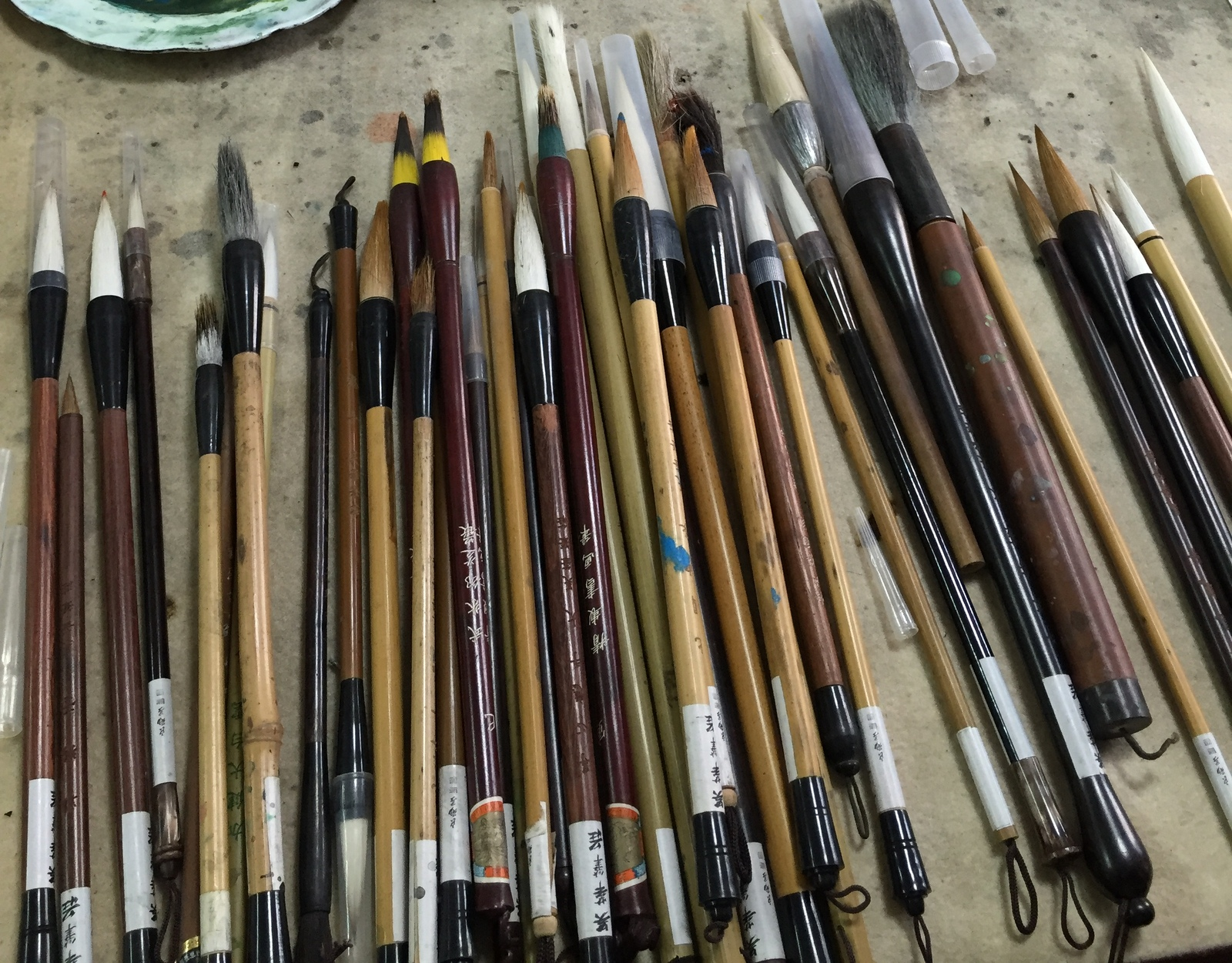 How to Use a Chinese Calligraphy Brush How to Use a Chinese Calligraphy Brush new photo