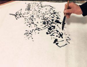 Dibujo con tinta de Su