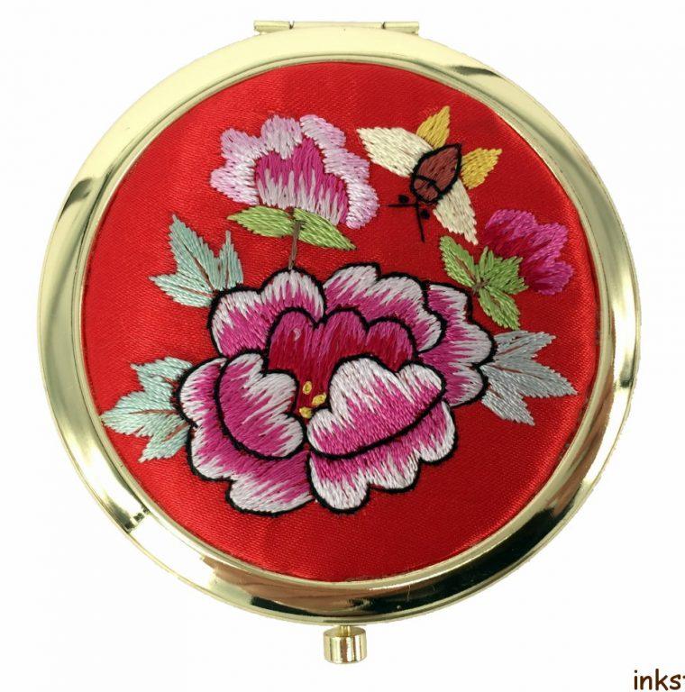Mirror - Red Peony Flowers