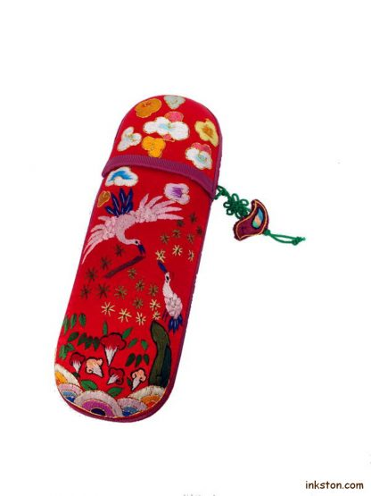 Silk Glasses Case, Red