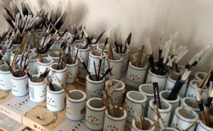Brushes being prepared for sale