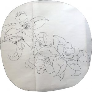 Camellia Covered with Snow Sketch