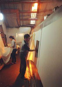 Drying Xuan Paper