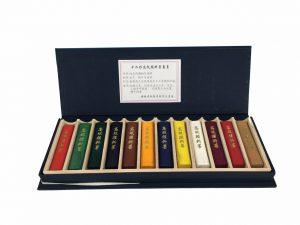 Palo de tinta mineral natural Hu Kai Wen, colores