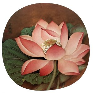 Lotus Out Of Water, Wu Bing, 23.8 * 25.1 cm, painted on silk, Song Dynasty, 960 - 1279.