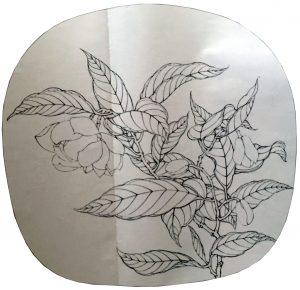 Night White Flower Sketch