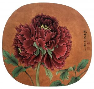 Peony, 24.8 * 22.0 cm, painted on silk, Ano. Song Dynasty, 960 - 1279.