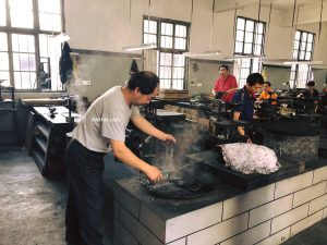 mixing raw materials