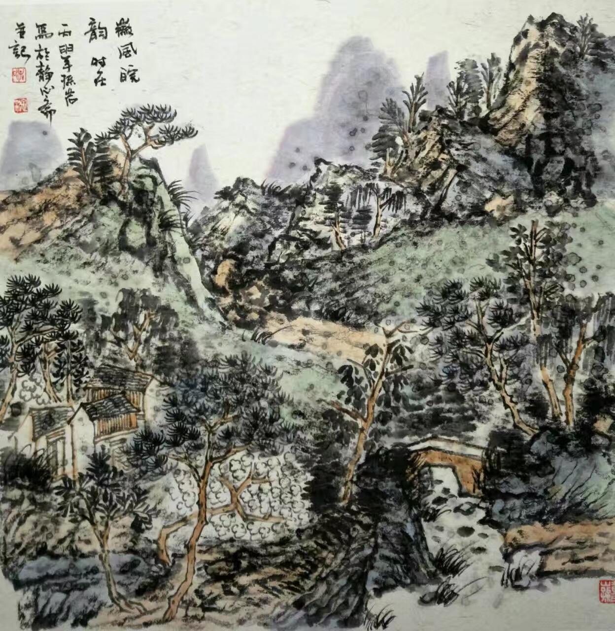 孙岩 SunYan - 山水 ShanShui landscape painting