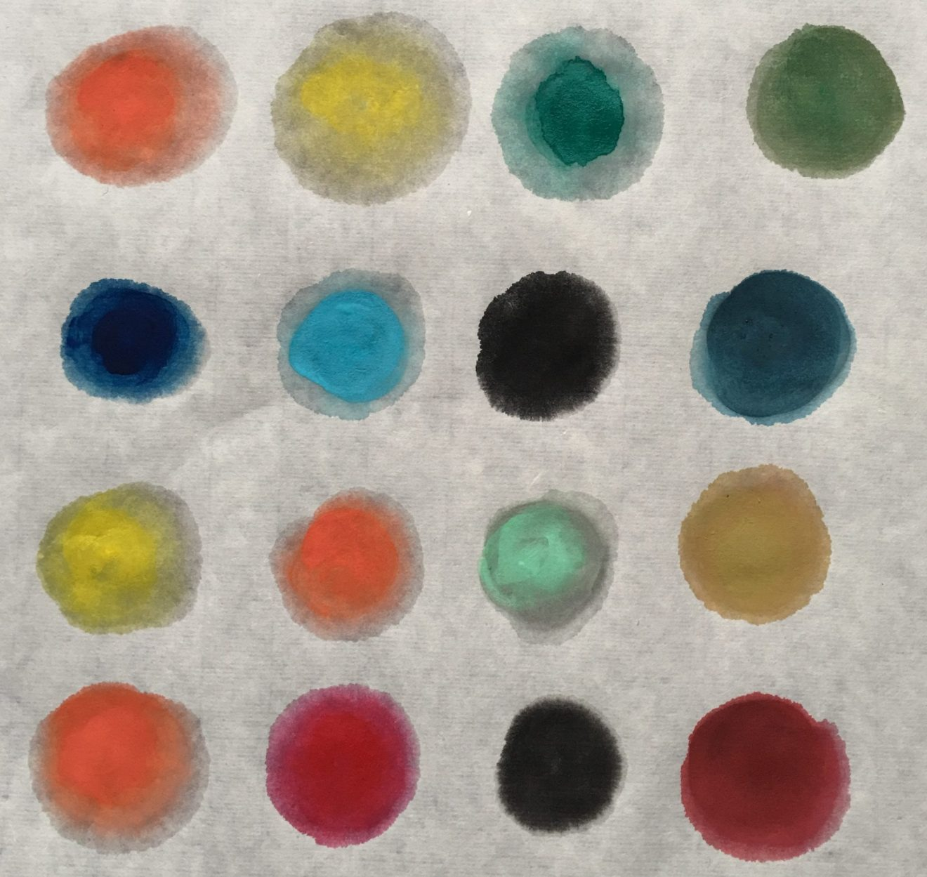 Chinese Painting/ Sumi E Colour Mixing Chart