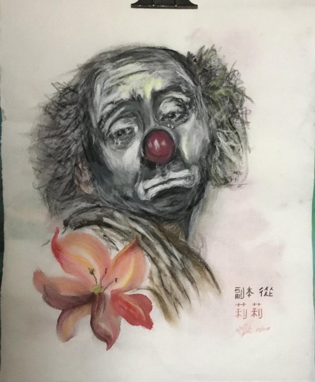 the clown, Liliane Berthelet, France
