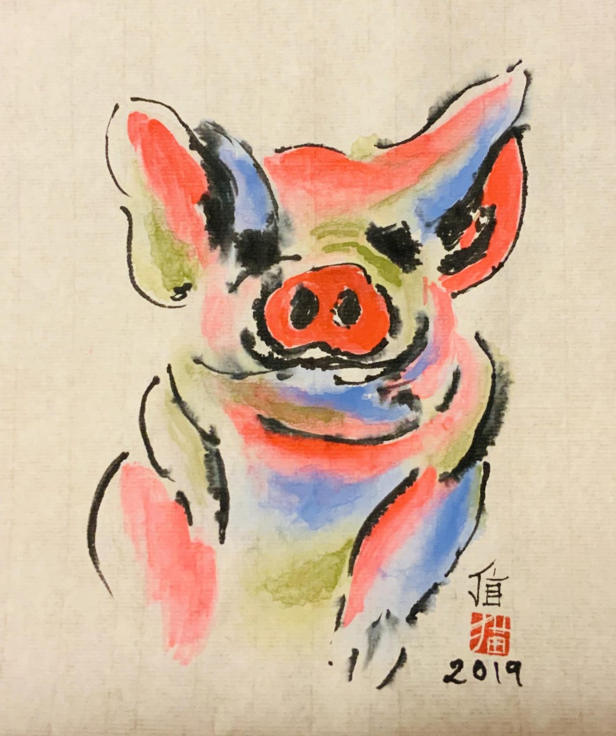 2019 Year of the pig by Joanna Brown