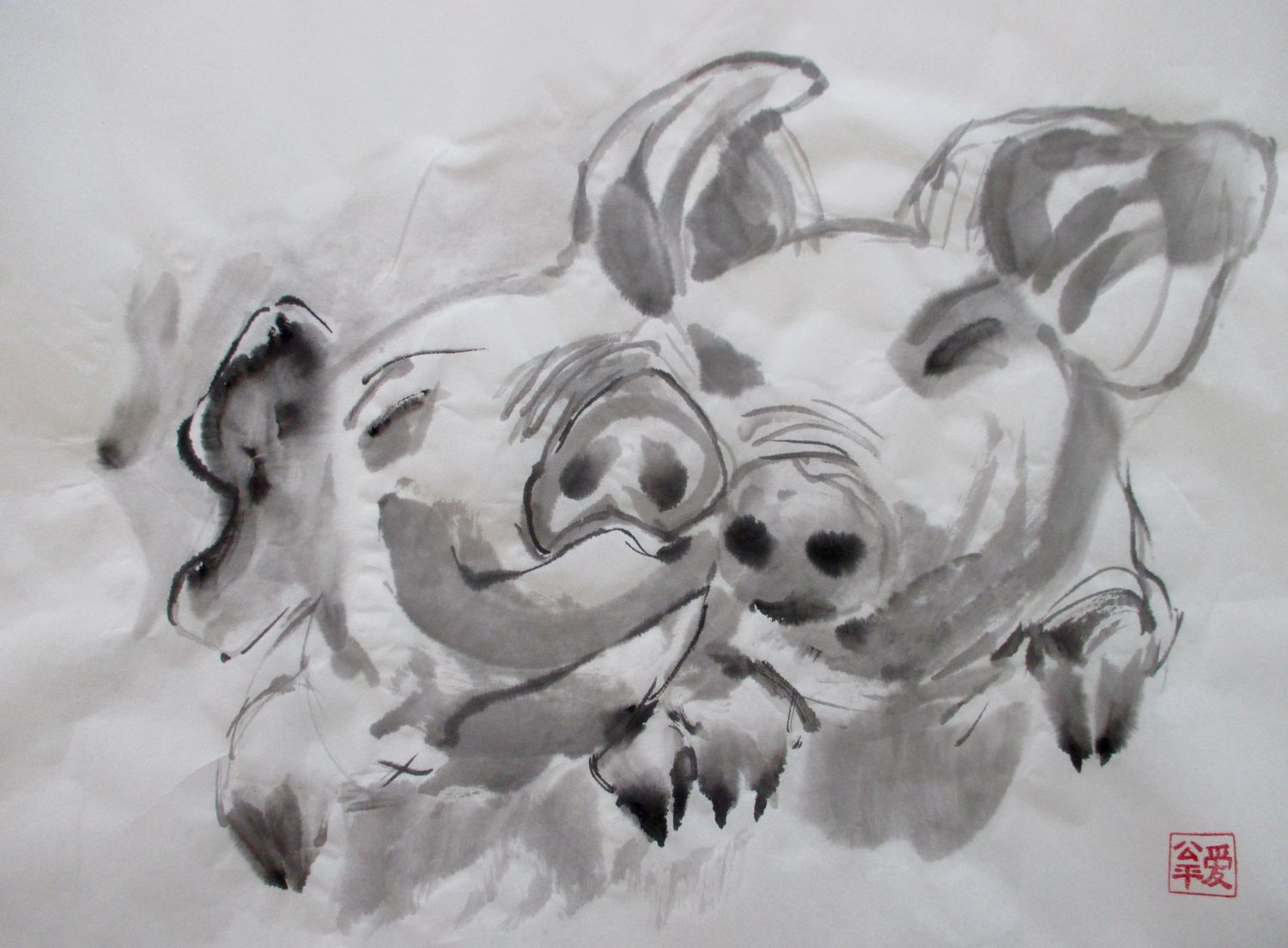 2 little pigs, new try